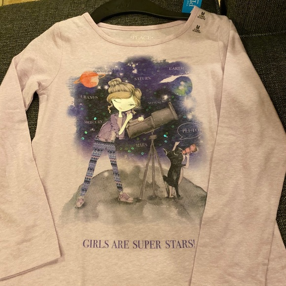 Children's Place Other - Girls Are Superstars Long Sleeve Tee